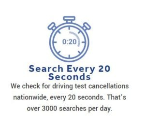 We Search for Driving Test Cancellations at Erith every 20 seconds