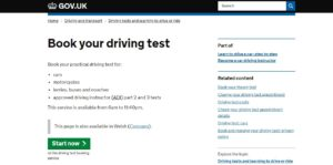 DTC Book Driving Test at GOV.UK