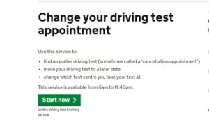 DTC UK Change Driving Test Date